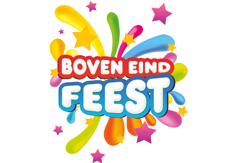 Logo Boven Eindfeest website header
